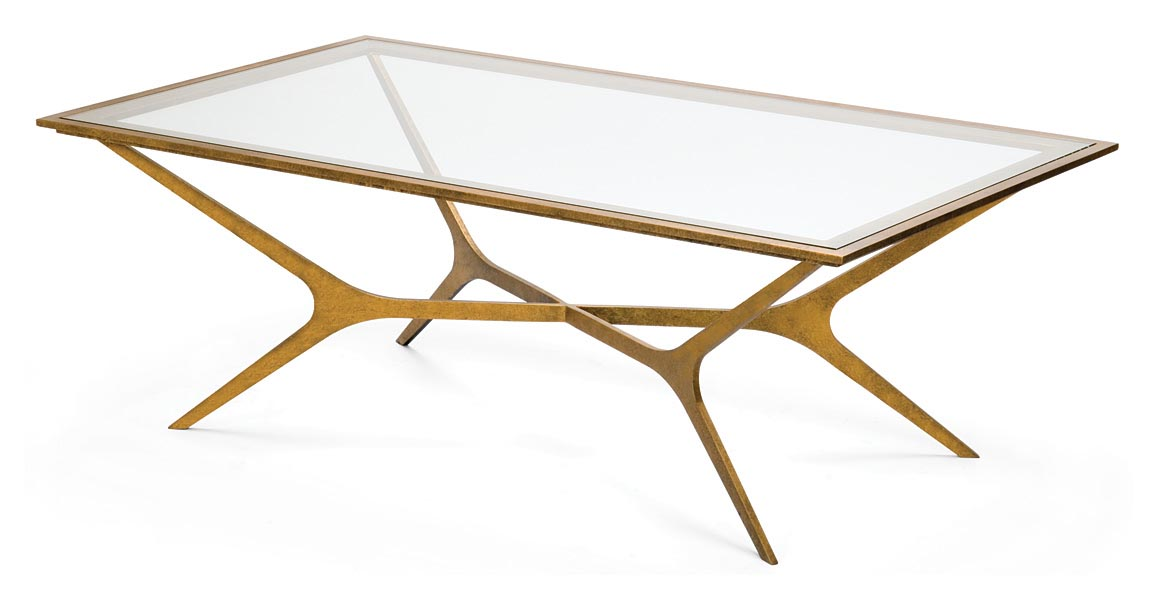 Gold Glass Top Coffee Table Design Ideas