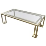 Gold Metal Coffee Table