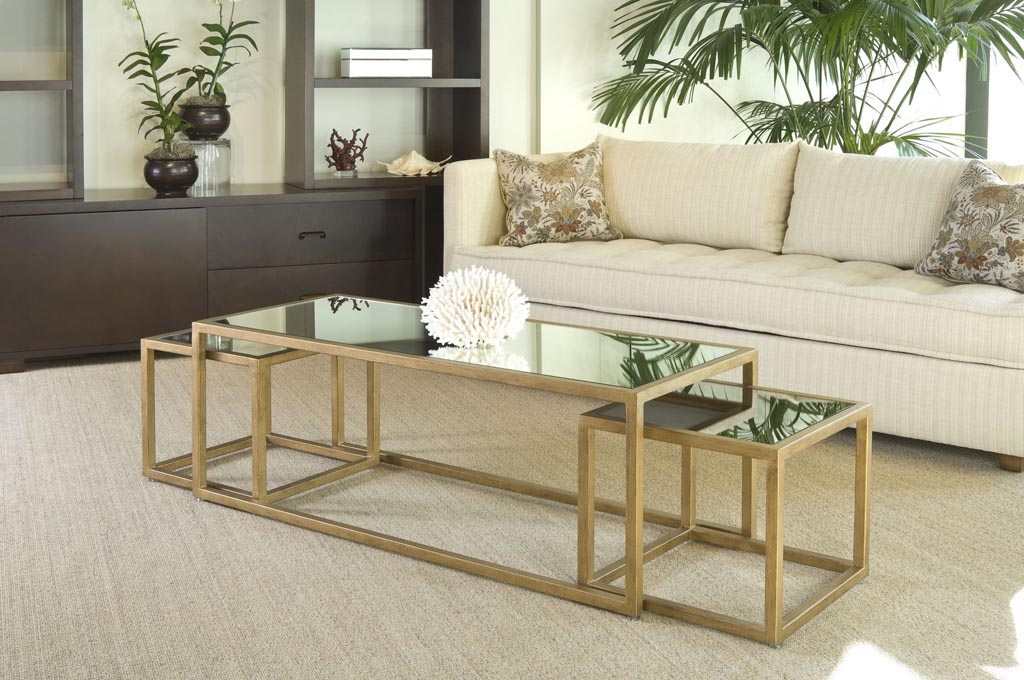 Gold Nesting Coffee Table