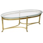 Gold Oval Coffee Table