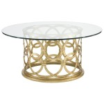 Gold Round Coffee Table