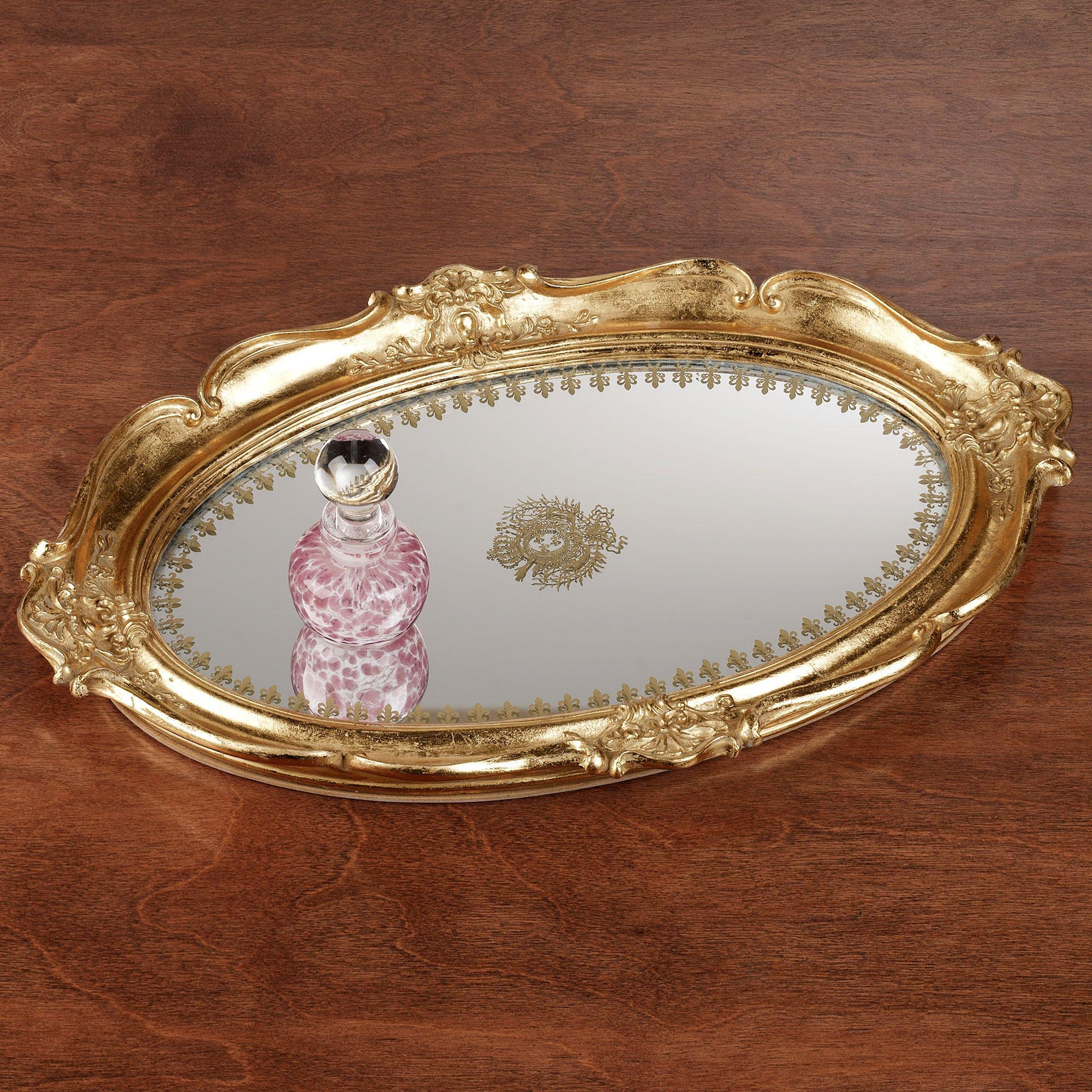 Gold Tray for Coffee Table