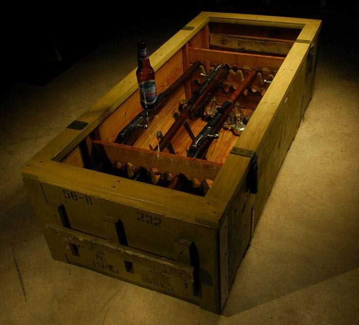 Gun Display Coffee Table