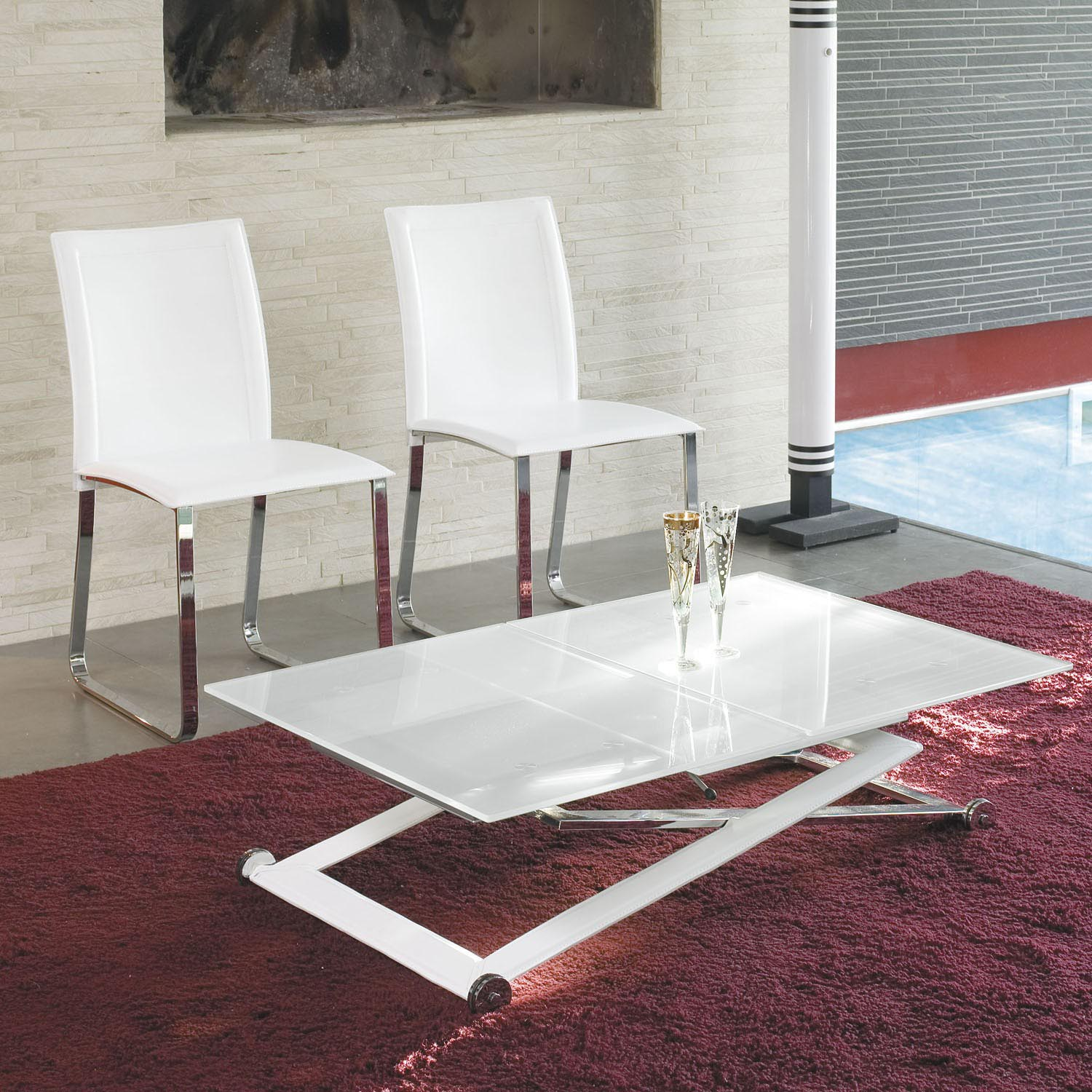 Height Adjustable Coffee Table Expandable Into Dining