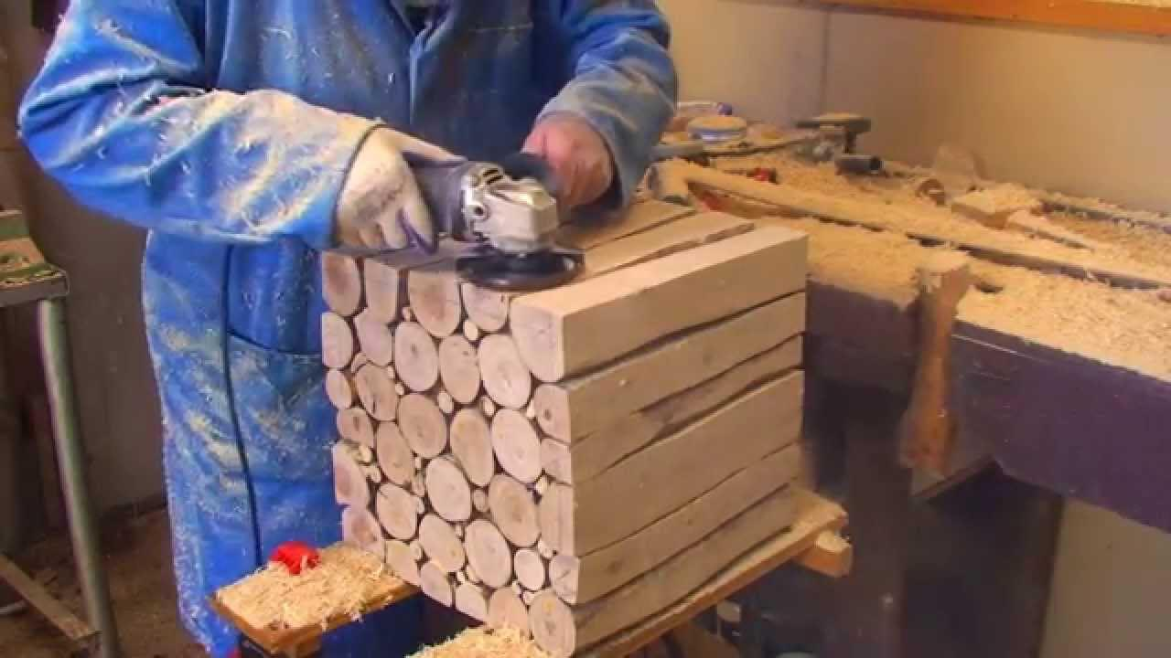 How to Make Log Coffee Table