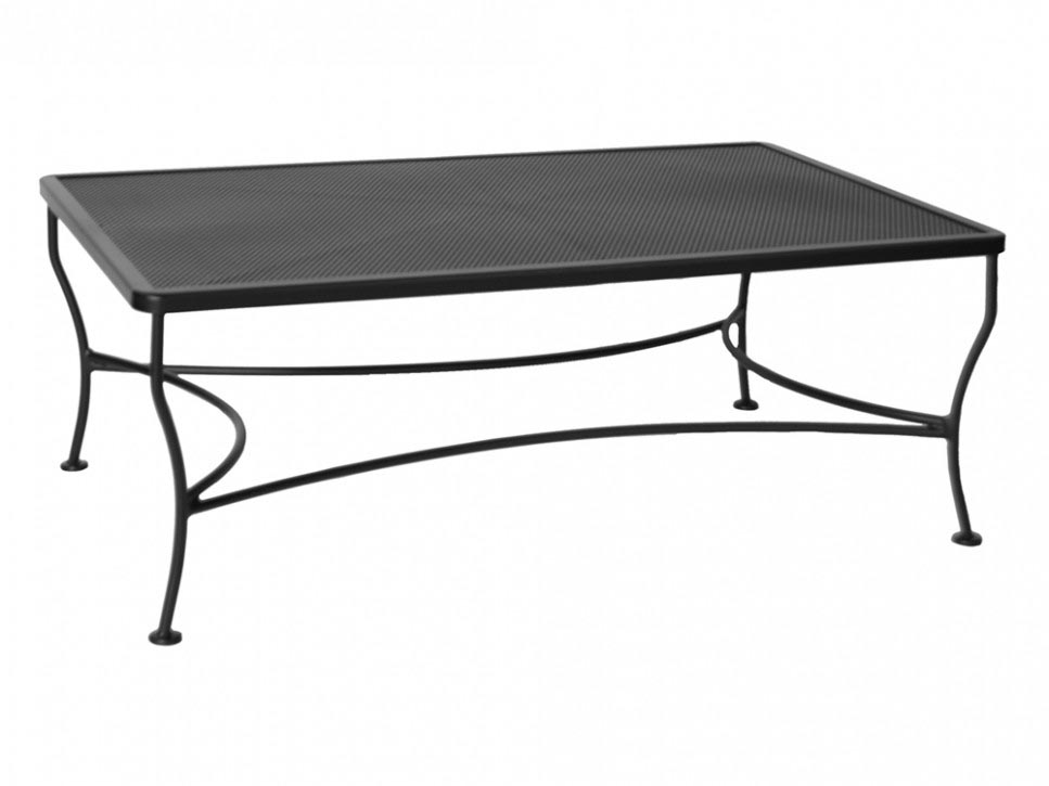 Iron Patio Coffee Table