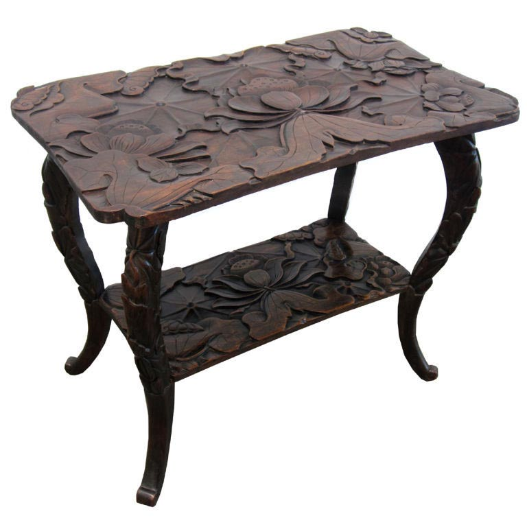 Japanese Carved Coffee Table