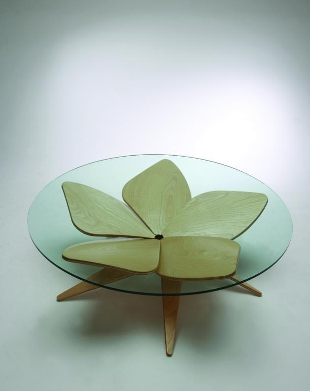 Japanese Designer Glass Coffee Table