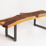 Large Wood Slab Coffee Table