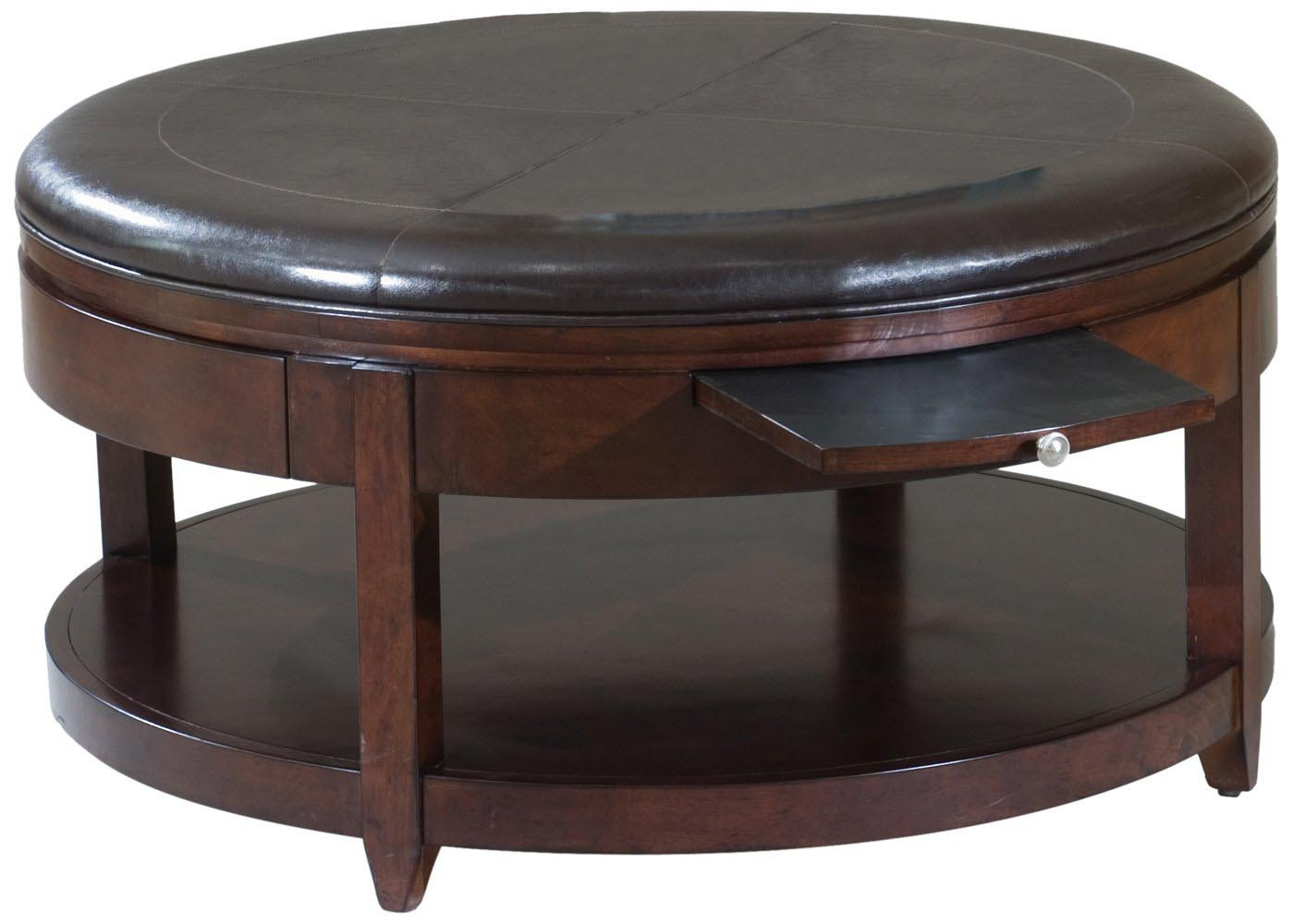 Leather Topped Coffee Table