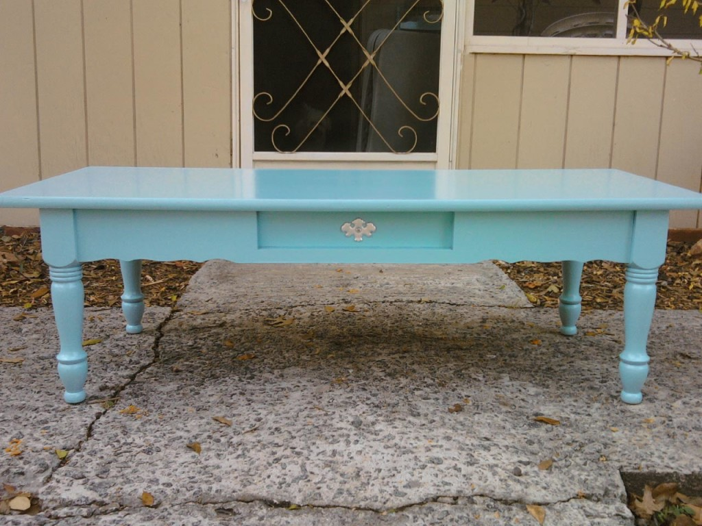 Light Blue Coffee Table