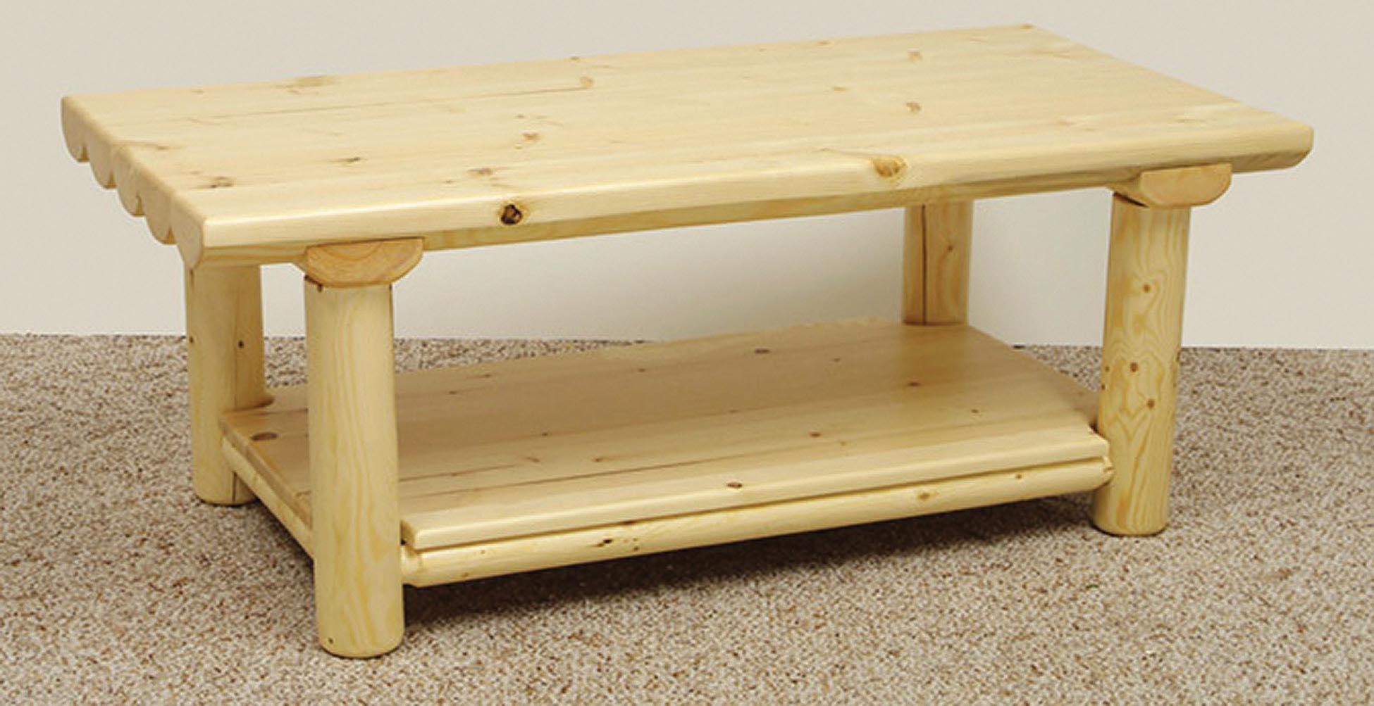 Introduce A Country Style With A Log Coffee Table Coffee Table Design Ideas