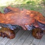 Log Coffee Table Set