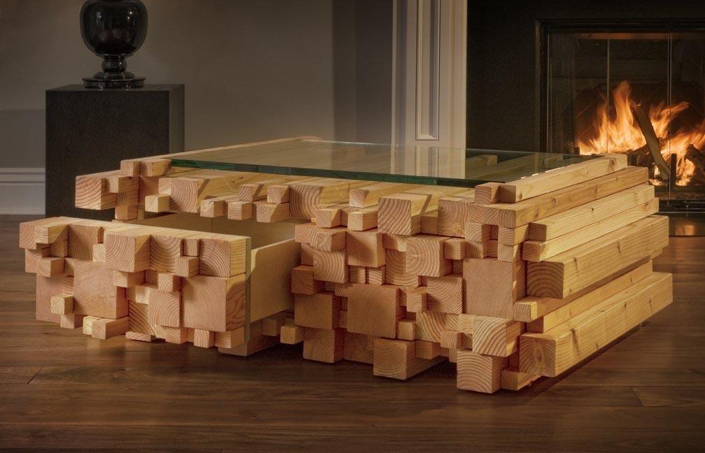 Log Coffee Table the Block