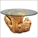 Log Wood Coffee Table