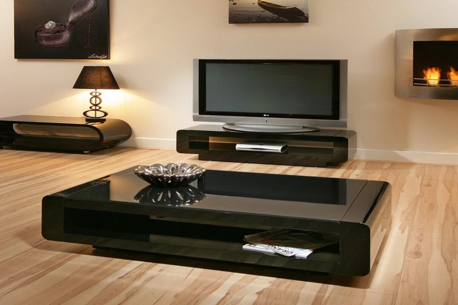 Low Black Coffee Table