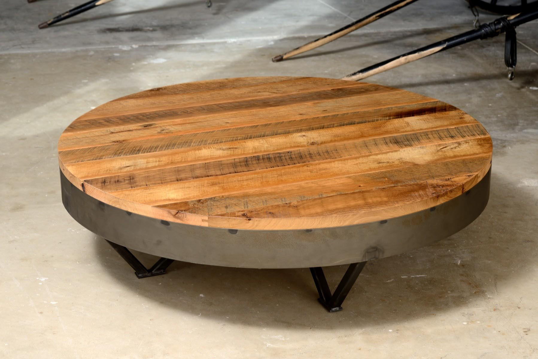 Low Round Coffee Table Design Ideas