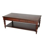 Mahogany Coffee Table with Shelf