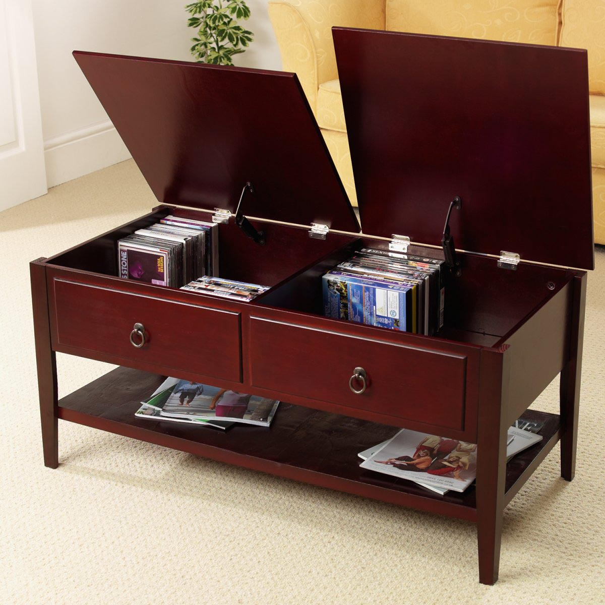 mahogany coffee tables with storage coffee table design