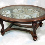 Mahogany Glass Coffee Table
