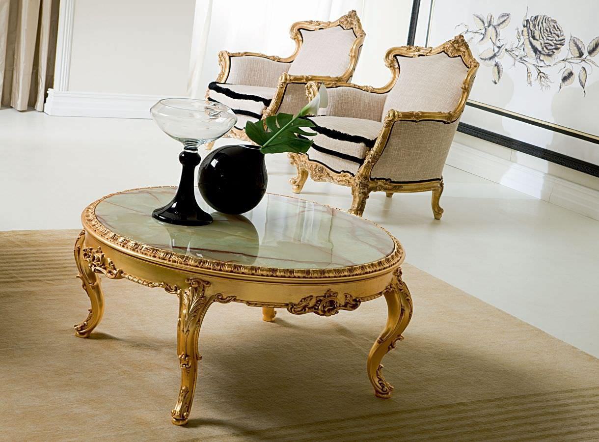 Marble and Gold Coffee Table