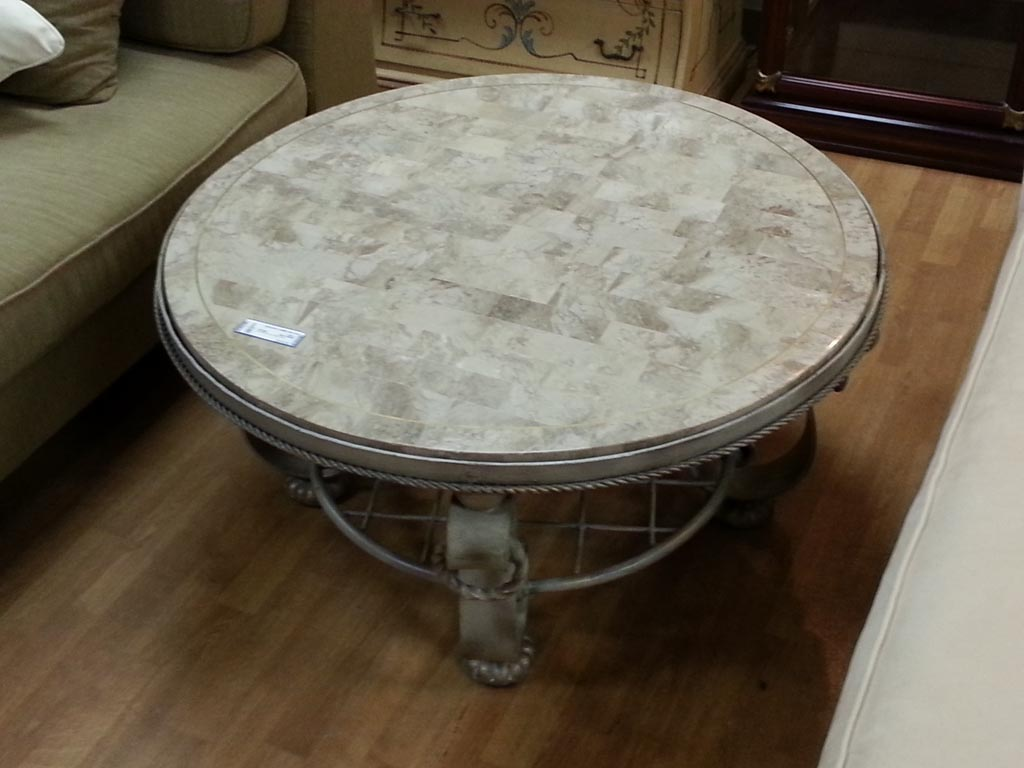 Marble round coffee table coffee table design ideas for Marble coffee table design