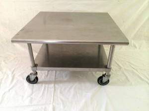 Metal Coffee Table with Wheels