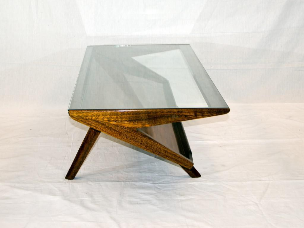 Mid century modern glass coffee table coffee table for Modern style coffee tables