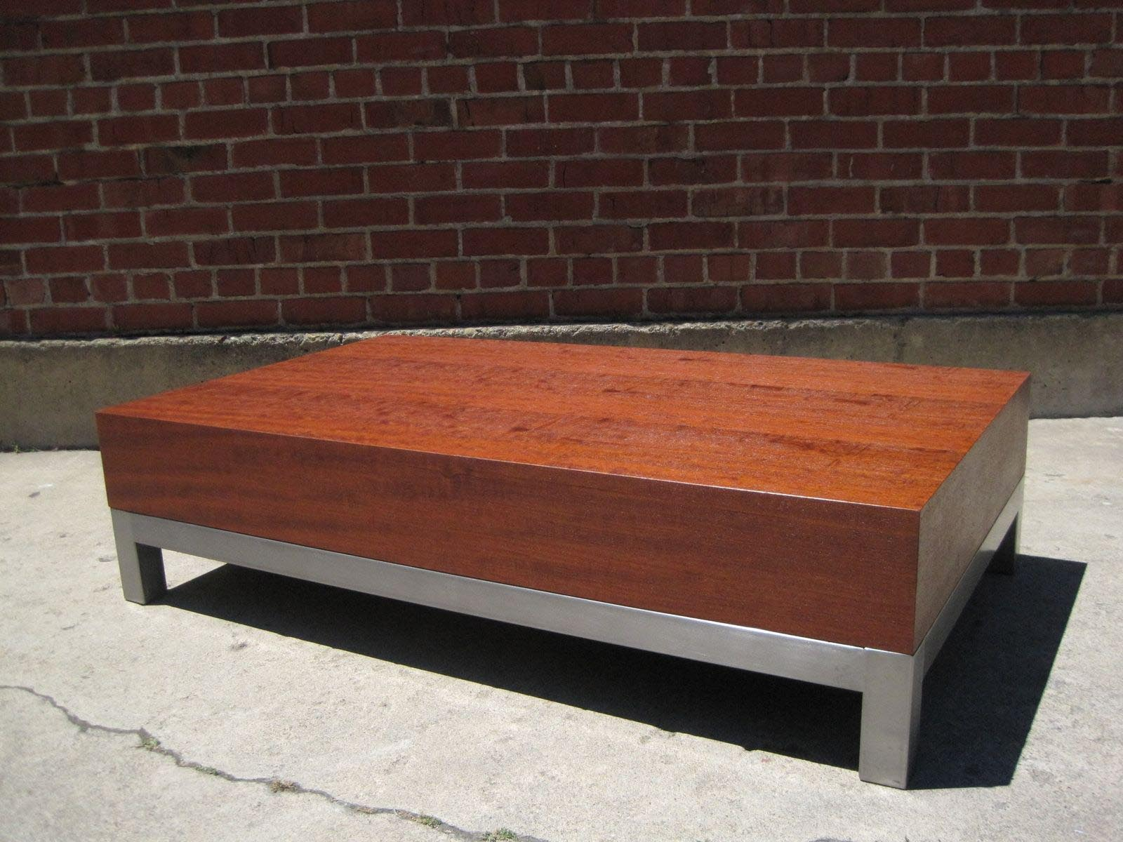Modern Mahogany Coffee Table