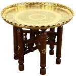 Moroccan Brass Tray Tea Coffee Table