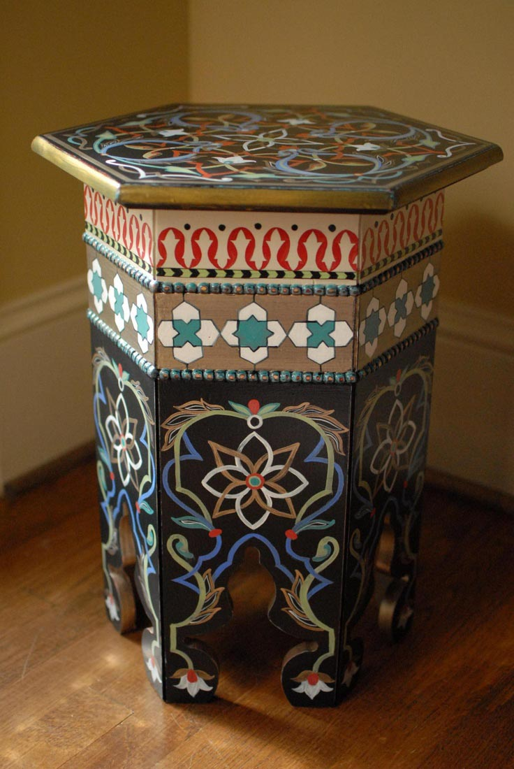 Moroccan Painted Coffee Tables