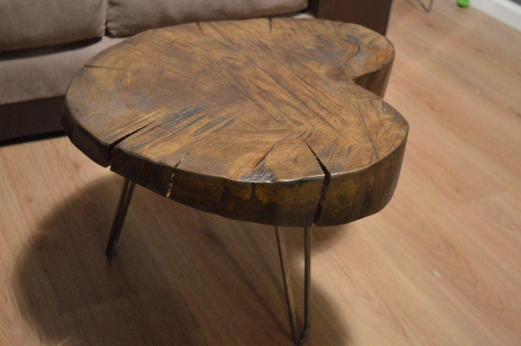 Oak Log Coffee Table