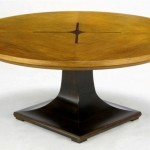 Oak Pedestal Coffee Table