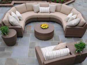 Outdoor Round Patio Coffee Table