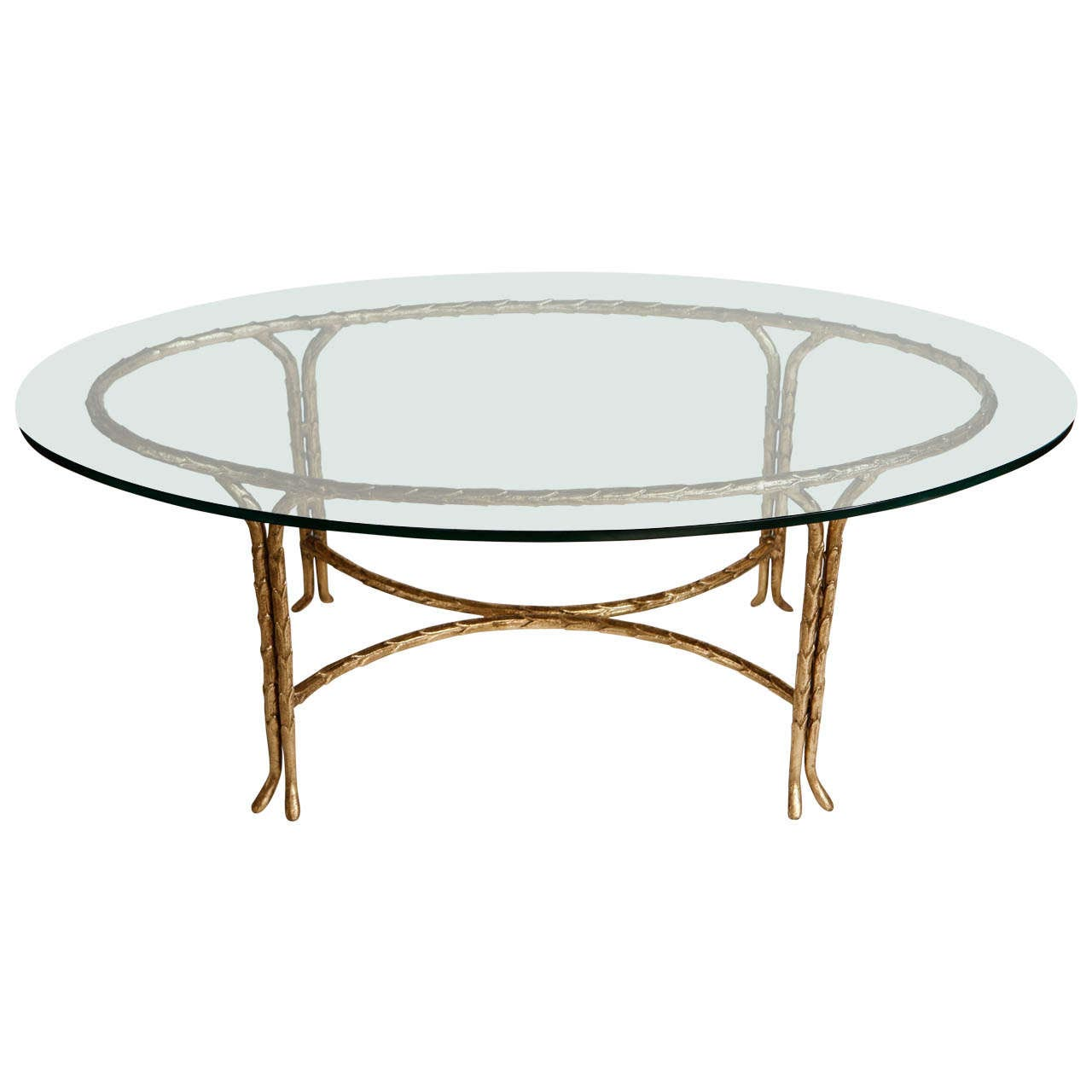 Oval Gold Coffee Table