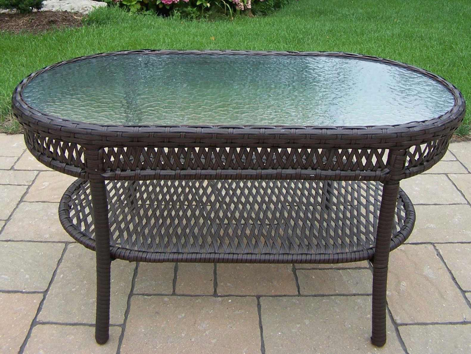 Oval Patio Coffee Table