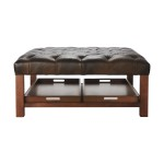 Oversized Leather Ottoman Coffee Table