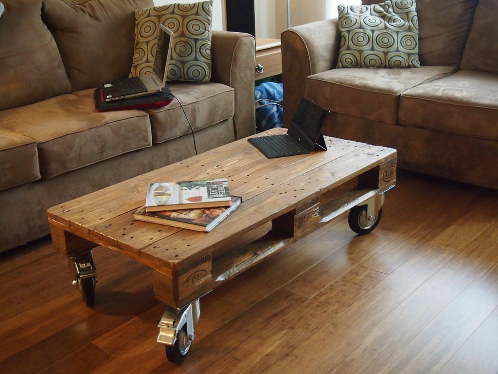 Pallet Coffee Table With Wheels Coffee Table Design Ideas