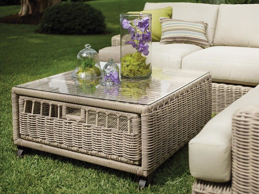 Patio Coffee Table with Storage