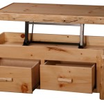 Pine Coffee Table with Storage
