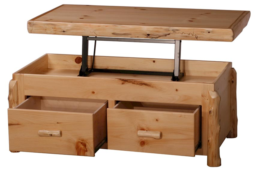 pine coffee table with storage coffee table design ideas