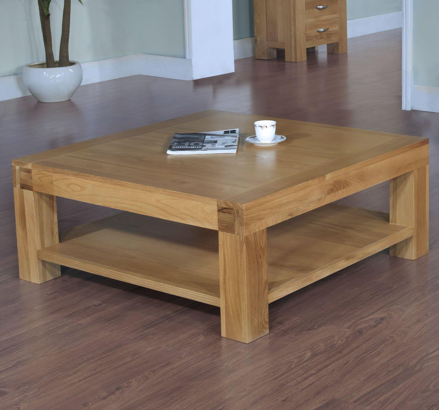Coffee Table Designs ~ Pine square coffee table design ideas