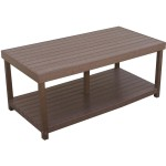 Plastic Patio Coffee Table