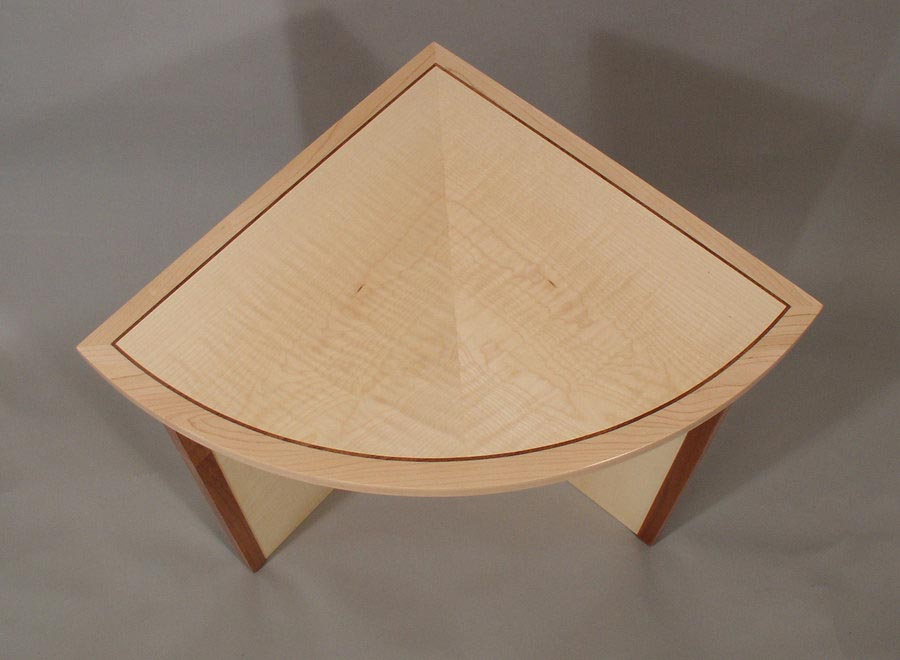 Quarter Circle Coffee Table