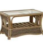 Rattan and Glass Coffee Table