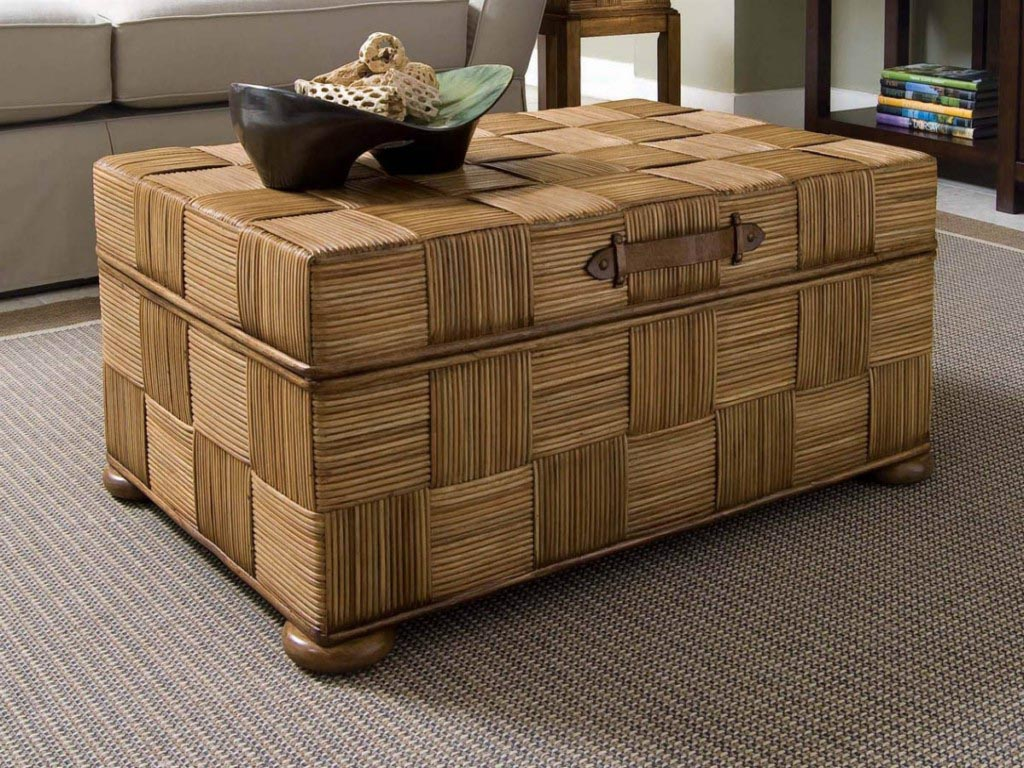 Rattan Storage Coffee Table