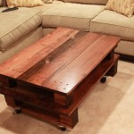 Reclaimed Wood Coffee Table with Wheels