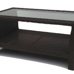 Resin Wicker Patio Coffee Table