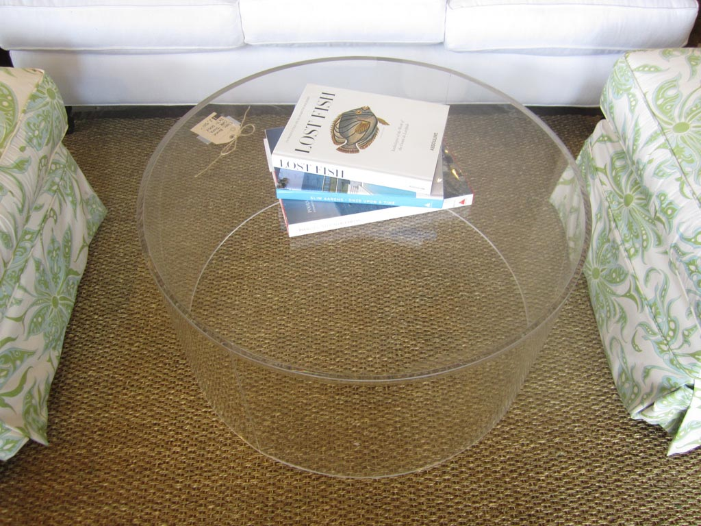 Round Acrylic Coffee Table Coffee Table Design Ideas