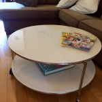 Round Coffee Table on Wheels